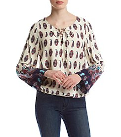 Hippie Laundry Paisley Tie Neck Top
