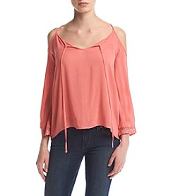 Hippie Laundry Cold Shoulder Peasant Top