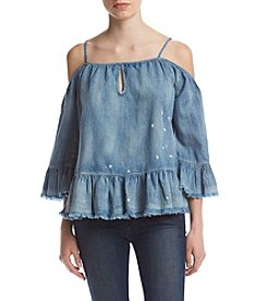 BLANKNYC® Off Shoulder Peasant Top