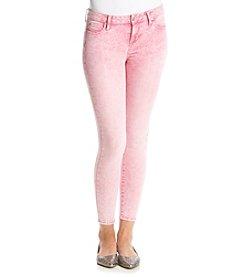 Celebrity Pink Rose Acid Ankle Skinny Jeans
