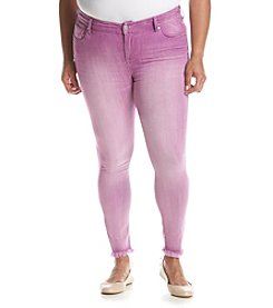 Celebrity Pink Plus Size Fray Cuff Ankle Jeans