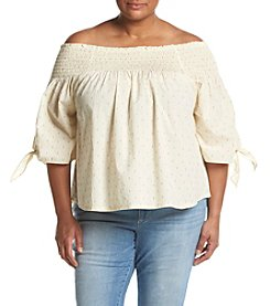 Hippie Laundry Plus Size Off The Shoulder Smocked Top