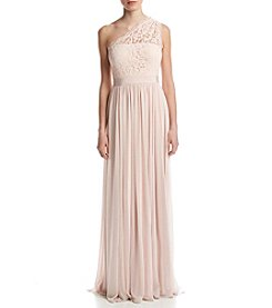 Adrianna Papell® One Shoulder Lace Bodice Dress