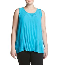 Relativity® Plus Size Pleated Shell Top
