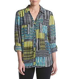 Relativity® Patchwork Utility Blouse