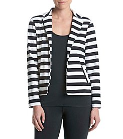 Relativity® Ponte Striped Jacket