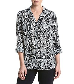 Relativity® Walltown Printed Utility Blouse