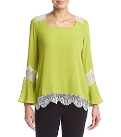 Relativity® Lace Trimmed Blouse