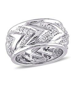 V1969 ITALIA White Sapphire Zig Zag Ring
