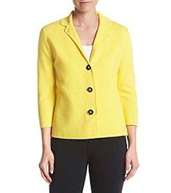 Kasper® Three Button Peplum Jacket