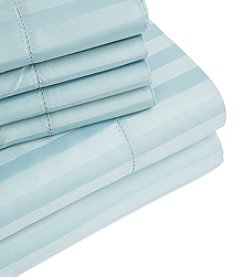 Home Fashions Jameson Collection 1000 Thread Count Rich 6-Piece Dobby Stripe Sheet Set