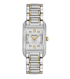 Bulova® Women's Diamond Accent Two Tone Watch