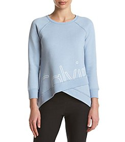 Calvin Klein Performance Criss Cross Cutoff Sweatshirt