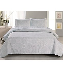 Home Fashions Sibylia Collection 3-Piece Quilt Set
