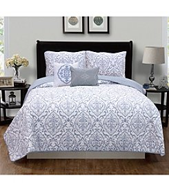 Home Fashions Deena Collection 5-Piece Quilt Set