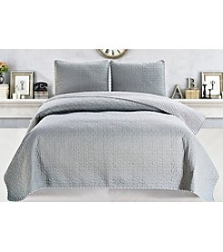 Home Fashions Jasmine Collection 3-Piece Quilt Set