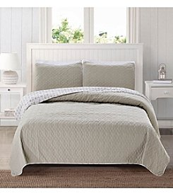 Home Fashions Bedford Collection 3-Piece Quilt Set
