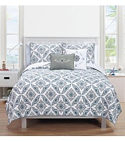 Home Fashions Melody Collection 5-Piece Quilt Set