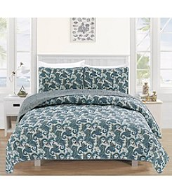 Home Fashions Cameryn Collection 3-Piece Quilt Set
