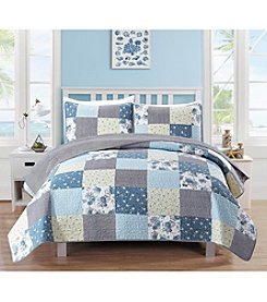 Home Fashions Fiore Collection 3-Piece Printed Quilt Set
