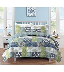 Home Fashions Zahira Collection 3-Piece Printed Quilt Set
