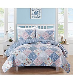 Home Fashions Marbella Collection 3-Piece Printed Quilt Set