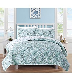 Home Fashions Valencia Collection 3-Piece Printed Quilt Set