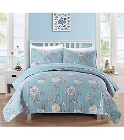 Home Fashions Dempsey Collection 3-Piece Printed Quilt Set