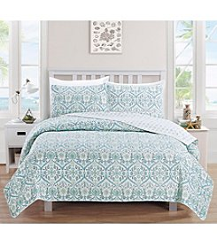 Home Fashions Cassandra Collection 3-Piece Printed Quilt Set