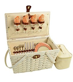 Picnic at Ascot Settler American Style Picnic Basket for 4
