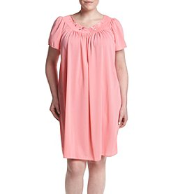 Miss Elaine® Plus Size Short Night Gown