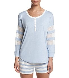 Tommy Hilfiger® Mesh Henley Pajama Top