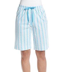 KN Karen Neuburger Stripe Pajama Bermuda Shorts