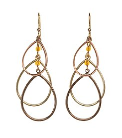 Silver Forest® Three Open Teardrop Earrings