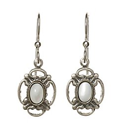 Silver Forest® Mother Of Pearl On Filigree Earrings