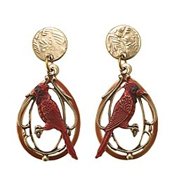 Silver Forest® Cardinal On Filigree Earrings