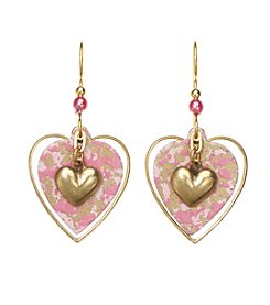 Silver Forest® Heart Trio Earrings
