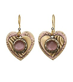Silver Forest® Heart With Stone Earrings