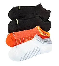 HUE® 4-Pack Air Cushion No Show Socks