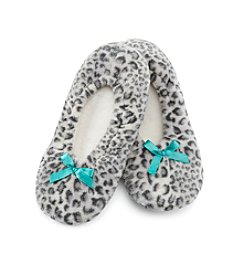 Fuzzy Babba® Leopard Slippers