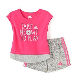 adidas® Baby Girls' 2-Piece Take Meowt To Play Set