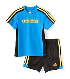 adidas® Baby Boys 2-Piece Short Set