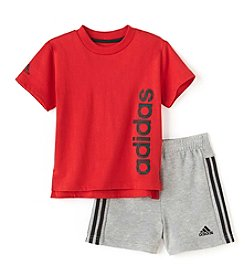 adidas® Baby Boys 2-Piece Sidekick Shorts Set