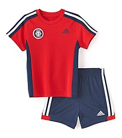 adidas® Baby Boys 2-Piece Soccer Shorts Set