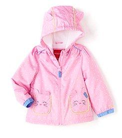 London Fog® Baby Girls' Polka-Dot Jacket With Kitty Pockets