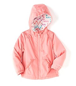 London Fog® Baby Girls' Solid Jacket With Kanga Pockets