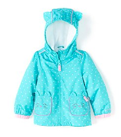 London Fog® Baby Girls' Polka-Dot Jacket