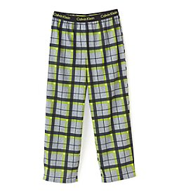 Calvin Klein Boys' 5-16 Plaid Sleep Pants
