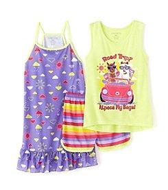 Komar Kids® Girls' 4-16 3-Piece Alpaca Gown And Short Set