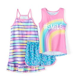 Komar Kids Girls' 3-Piece Smile Gown and Pajama Set